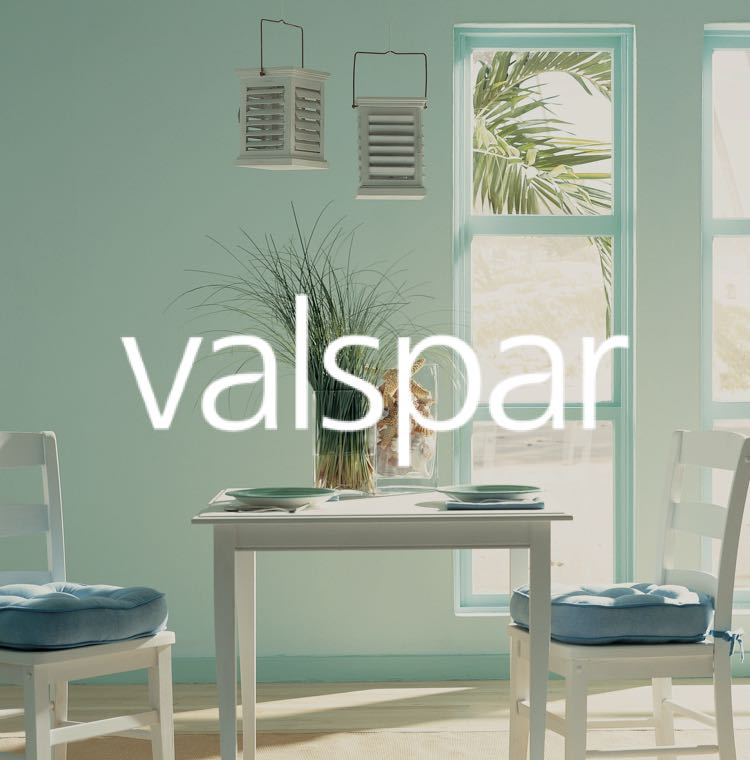Valspar paint on wall