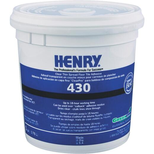 Henry 430 ClearPro Clear VCT Vinyl Floor Adhesive, 1 Gal. Tub