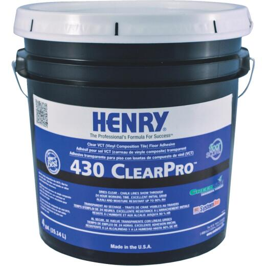 Henry 430 ClearPro Clear VCT Floor Adhesive Vinyl Floor Adhesive, 4 Gal.